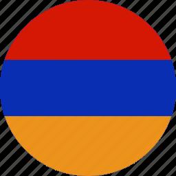 almenia, armenia, country, flag icon