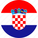 country, croatia, flag, national icon