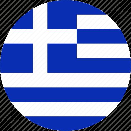 flag, greece, national icon