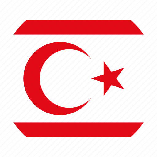 country, flag, northern cyprus icon