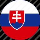 country, flag, slovakia icon