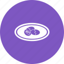 dumplings, food, fruit, plum, sugar, sweet, traditional icon