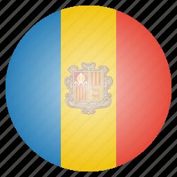 andorra, country, european, flag, national icon