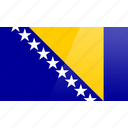 bosnia, country, europe, flag, herzegovina icon