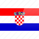 country, croatia, europe, flag, republic icon