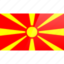 country, europe, flag, macedonia icon