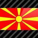 country, europe, flag, macedonia icon