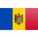 country, europe, flag, moldova icon