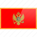 country, europe, flag, montenegro icon