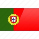 country, europe, flag, portugal icon