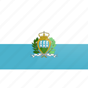 country, europe, flag, san marino icon
