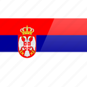 country, europe, flag, serbia icon