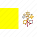 country, europe, flag, vatican icon