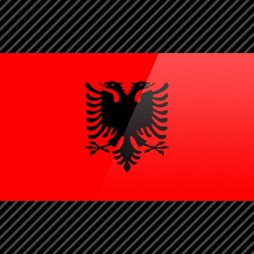 albania, country, europe, flag icon