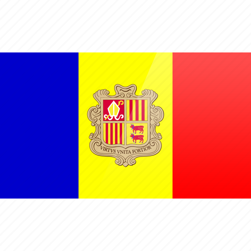 andorra, country, europe, flag icon