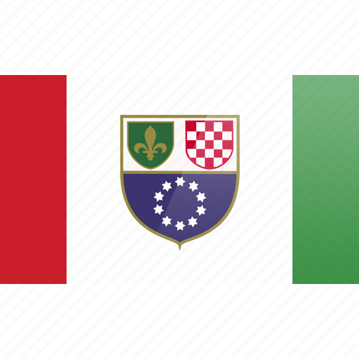 bosnia, country, europe, federation, flag, herzegovina icon