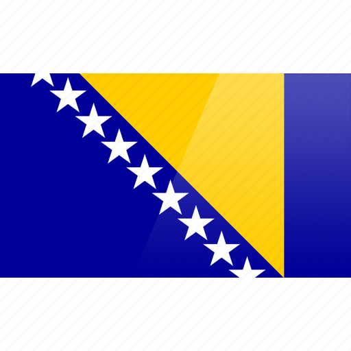 bosnia, country, europe, flag, herzegovina icon