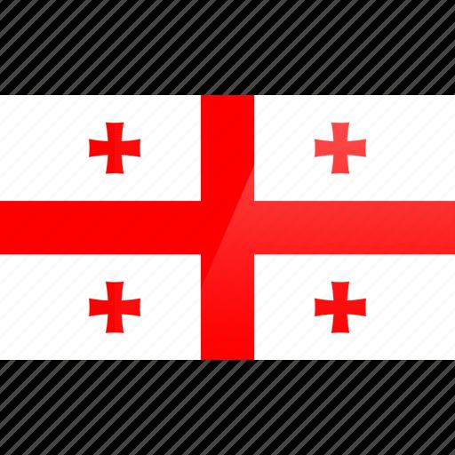 country, europe, flag, georgia icon