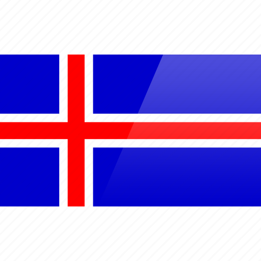 country, europe, flag, iceland icon