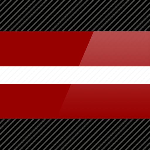 country, europe, flag, latvia icon
