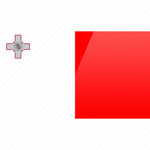 country, europe, flag, malta icon