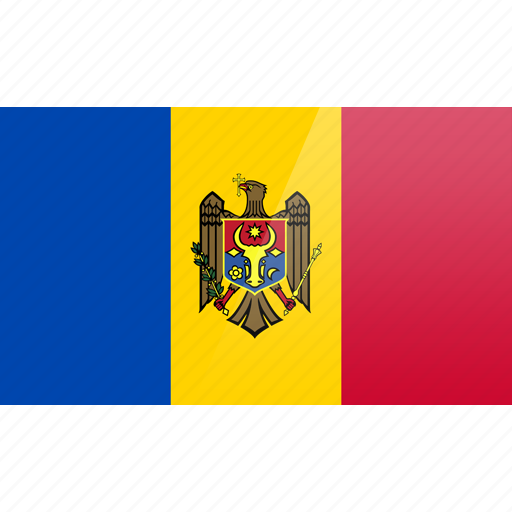 country, europe, flag, moldova icon