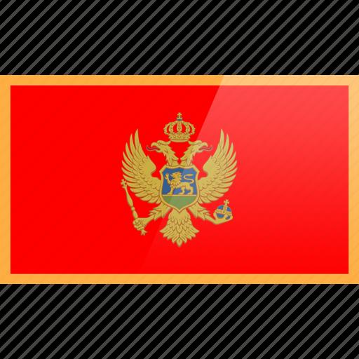 country, europe, flag, montenegro icon