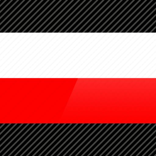 country, europe, flag, poland icon
