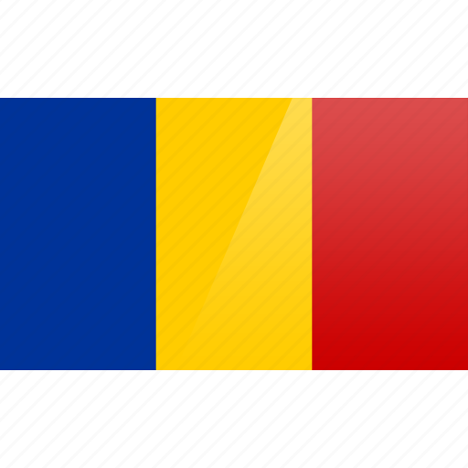 country, europe, flag, romania icon