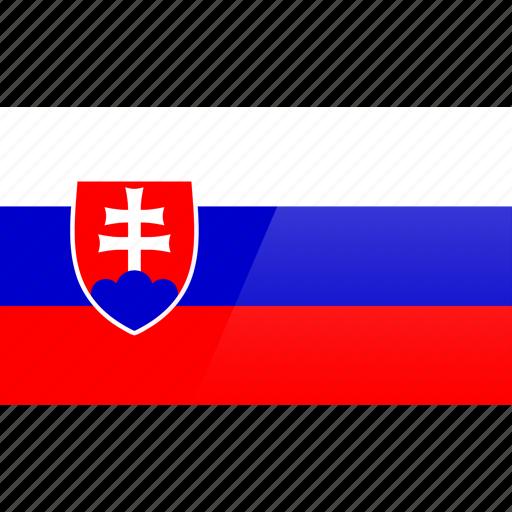 country, europe, flag, slovakia icon