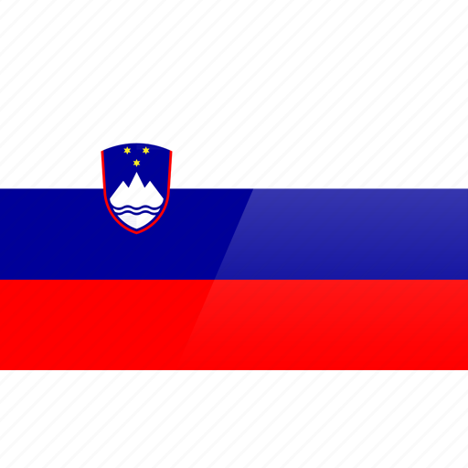 country, europe, flag, slovenia icon