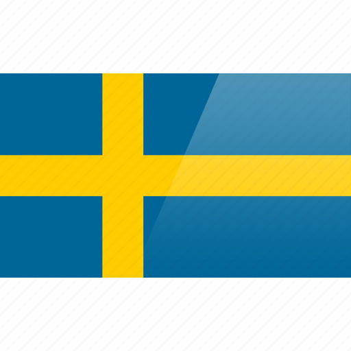 country, europe, flag, sweden icon