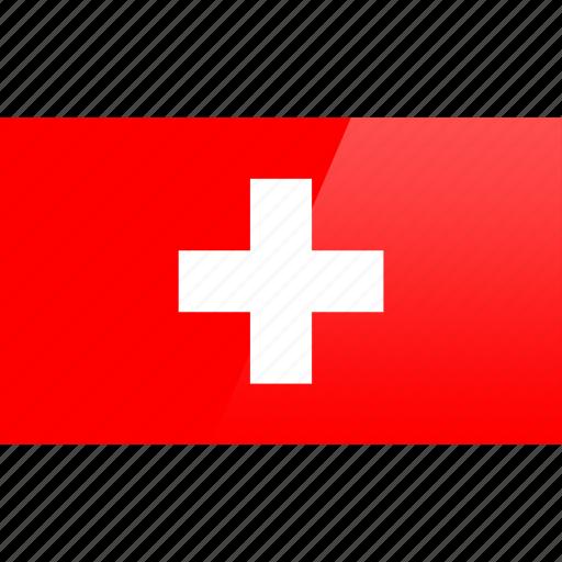 country, europe, flag, switzerland icon
