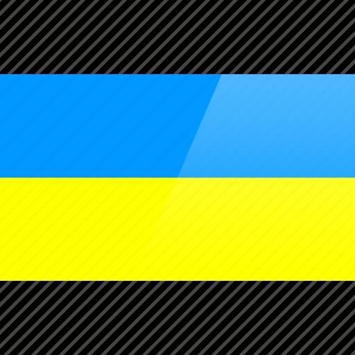 country, europe, flag, ukraine icon