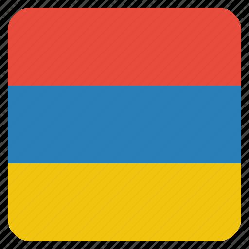 armenia, armenian, country, flag, national icon