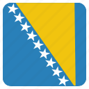 bosnia, country, flag, herzegovina, national icon