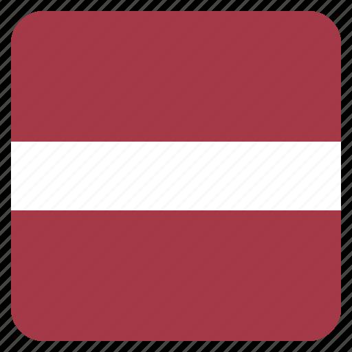 country, flag, latvia, latvian, national icon