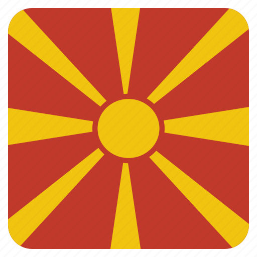 country, flag, macedonia, national icon
