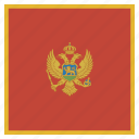 flag, montenegro icon