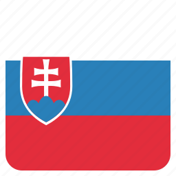 country, flag, national, slovakia, slovakian icon