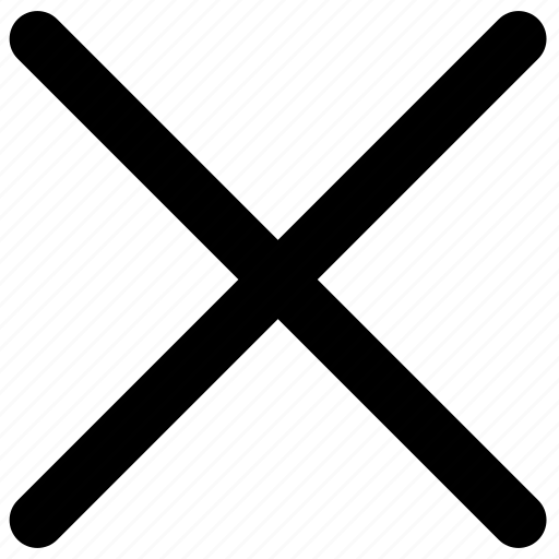 close, cross, lines, reject icon