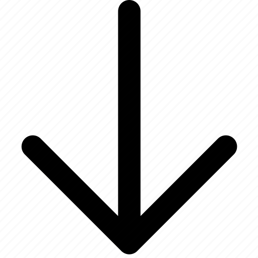 arrow, bottom, direction, down, downward, to, under icon