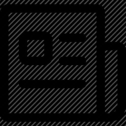 fold, headline, media, news, newspaper, publication icon