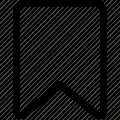 bookmark, favourite, mark, page, ribbon icon