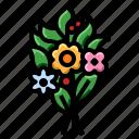 bouquet, flowers, fragrance, nature, plantation, rose