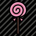 heart, lollipop, lolly, rainbow, spiral, sweet