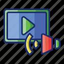 audio, media, video icon