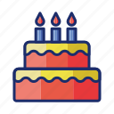 birthday, cake, celebration icon