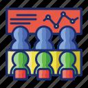 board, meeting, presentation icon