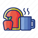 breakfast, food, meal icon